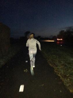7:14am run with Emma